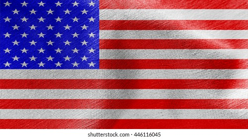 American ripple flag, digitally created by computer software
