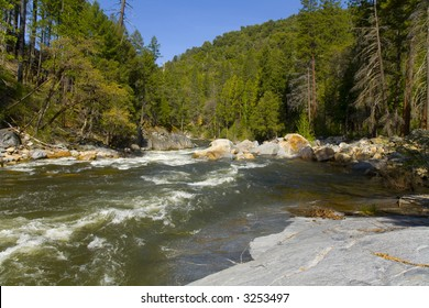 American River in the Sierra Nevada Mountains on the way to Lake Tahoe
