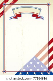 American scratched letter. A patriotic background for a poster