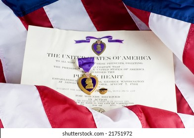 American service award for being wounded in action