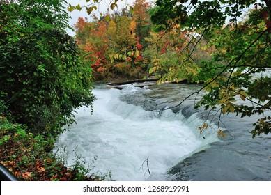 American side of Niagara Falls in fall (autumn)