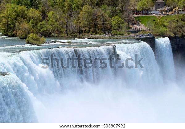 American Side Niagara Falls New York Stock Photo Edit Now