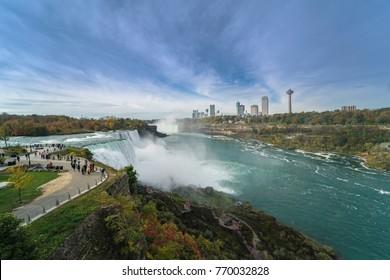 American Side of Niagara Falls in the sunny day