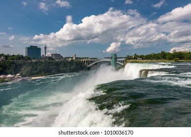 American side of Niagara Falls waterfall landscape, New York, USA
