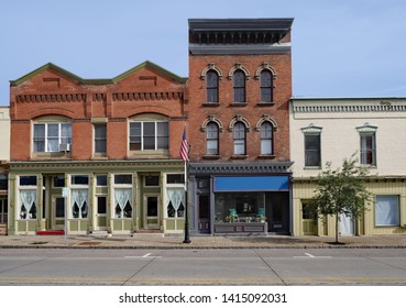 American small town old fashioned main street storefronts