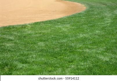American softball or baseball infield natural background