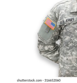 American soldier on white background series