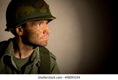 American Soldier Portrait - Vietnam War