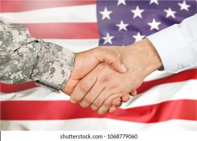 American soldier in uniform