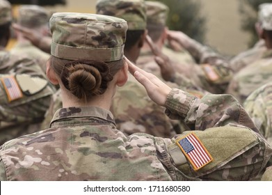 American Soldiers Salute. US Army. Military forces of the United States of America. US army. Memorial day. Veterans Day.