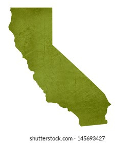 American state of California isolated on white background with clipping path.