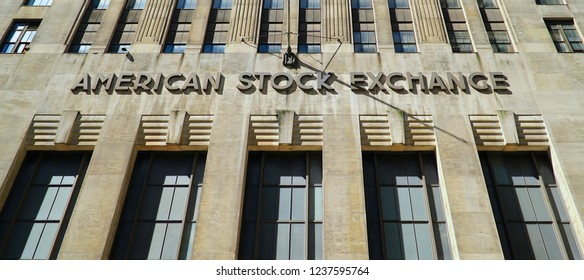 American stock exchange in Lower Manhattan, NYC