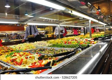 American supermarket. Various food 1