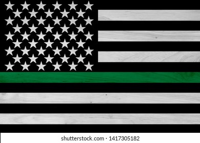 American thin green line flag for your support of of border patrol and other federal agents