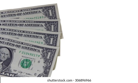 American us dollar isolated on white