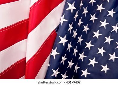 American (USA) Waving flag background studio shot