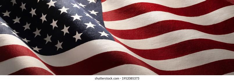 American Wave Flag Background. USA