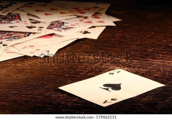 American West Legend Vintage Ace Spade Stock Photo Edit Now 179062151