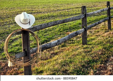 At Cowboy Fence Images Stock Photos Amp Vectors Shutterstock