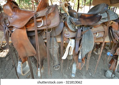 American western ranch horse saddles