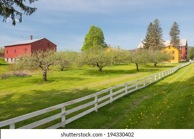 American wooden farms in the Berkshires, Massachusetts, USA