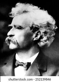 American writer Mark Twain, (aka Samuel Clemens), (1835-1910), c. 1900.