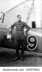 American WWI pilot of the 91st Aero Squadron, France. Feb. 1919.