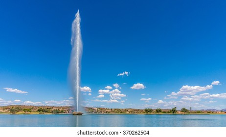 America's highest fountain at the town of Fountain Hills in Arizona