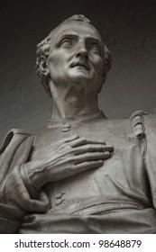 Amerigo Vespucci. Statue outside the Uffizi, Florence, Italy