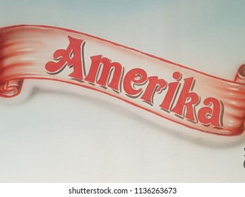 Amerika red letters