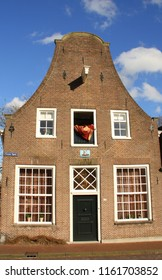 Amersfoort. February-13-2018. Historic house in the center of Amersfoort. The Netherlands