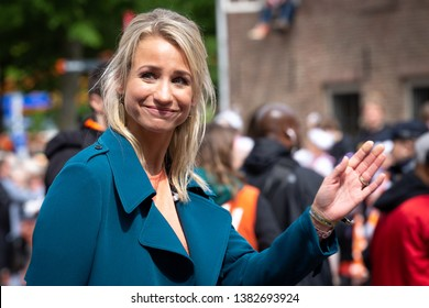 Amersfoort, The Netherlands. April 27th 2019: Dutch television news anchor Dionne Stax at Kingsday 2019