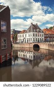 Amersfoort, Netherlands, May 17, 2015:  The corner Kleine Spui and Westersingel in the Dutch city of Amersfoort in The Netherlands