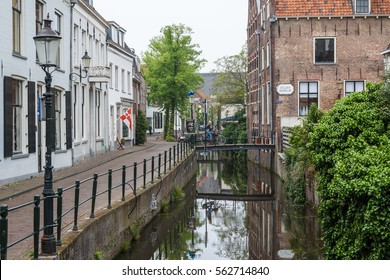 AMERSFOORT / NETHERLANDS - MAY 2014: Canal in the old town of Amersfoort, Netherlands