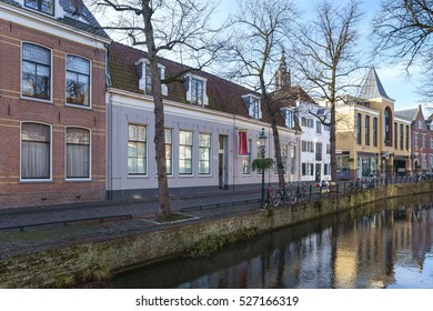 Amersfoort, Netherlands, November 2016. The house of birth of the painter Mondriaan or Mondrian is now the location for museum the Mondriaanhuis.