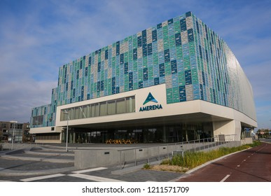 AMERSFOORT, THE NETHERLANDS - October 21, 2018: Amersfoort AmerenA sports centre with swimmingpool and indoor sports hall
