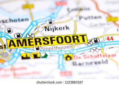 Amersfoort. Netherlands on a map