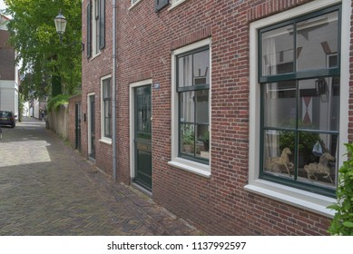 Amersfoort / Utrecht / Netherlands / 5 june 2018 / buildings in the city centre of Amersfoort