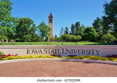 AMES, IA -25 MAY 2016- The landmark Stanton carillon bell tower campanile on the campus of Iowa State University (of Science and Technology), a public research university located in Ames, Iowa.