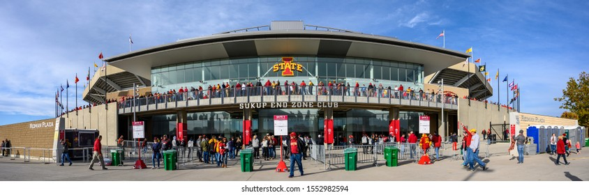 Ames, Iowa, USA - 10/2019: External view of Iowa State Cyclones Football Jack Trice Stadium