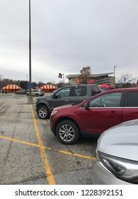 Ames, Iowa, USA - 11/10/2018: Iowa State Cyclones Football pregame tailgating