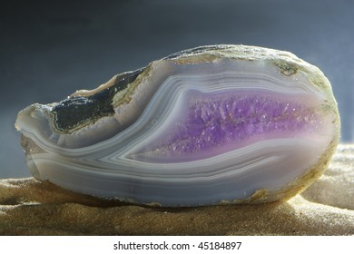 Amethyst in the blue agate