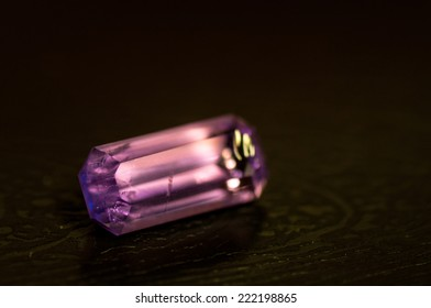 Amethyst crystal faceted for jewelry.