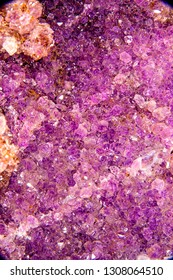Amethyst, gemstone druse for stone healing