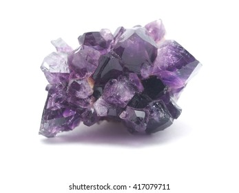 amethyst on a white background