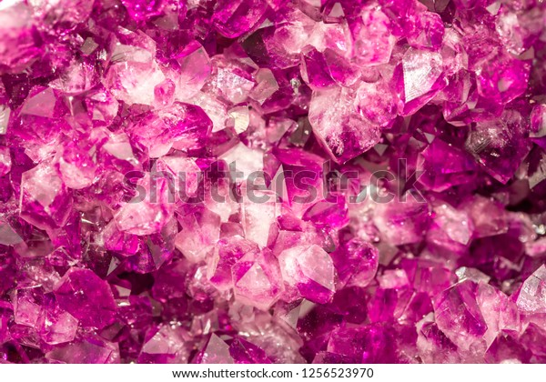 Amethyst Pink Crystals Gems Mineral Crystals Stock Photo