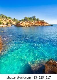 Ametlla L'ametlla de mar beach illot in Costa dorada of Tarragona in Catalonia