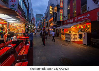 Ameyoko is a busy market street along the Yamanote Line tracks between Okachimachi and Ueno Stations in Tokyo Japan. 14 June 2018