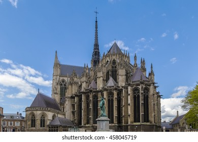 Amiens Cathedral is a Roman Catholic cathedral.  The cathedral was built between 1220 and c.1270 and has been listed as a UNESCO World Heritage Site since 1981, France