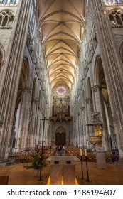 Amiens. France. 06.01.12. Interior of the Cathedrale Notre-Dame in the city of Amiens in the Picardy region of northern France. This Gothic cathedral dates from 1220AD and is the largest in France.